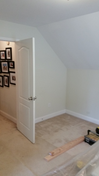 Before - Added closet to bonus room to turn into bedroom.